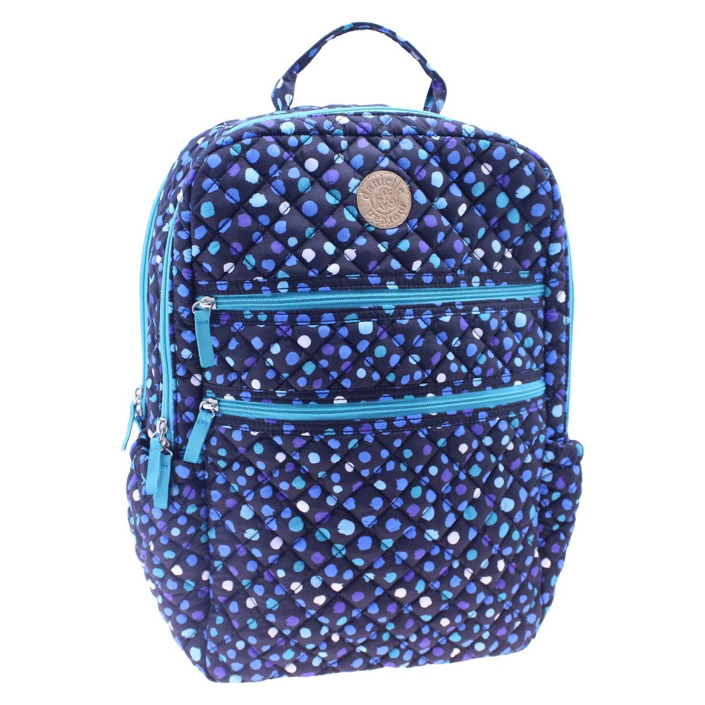 Danielle Morgan Quilted Backpack With Padded Laptop Sleeve, Multi-Colored