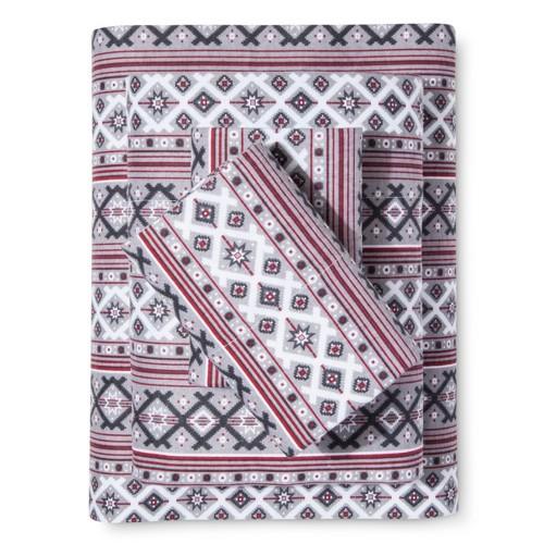 Knit Cotton Flannel Sheet Set (Twin) Grey - Elite Home, Light Grey