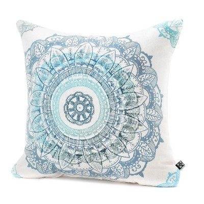 Blue/Mandala Rosebudstudio Mandala Throw Pillow - (18 x18 )- Deny Designs®