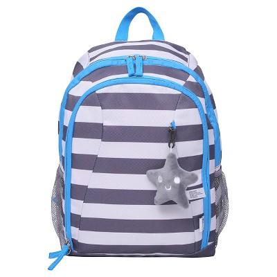 Crckt 15  Kids' Backpack - Gray White Stripe