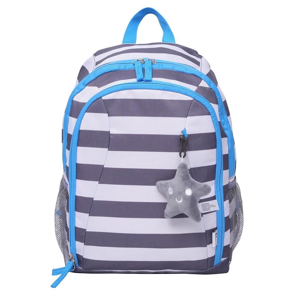 Crckt 15 Kids Backpack - Gray White Stripe