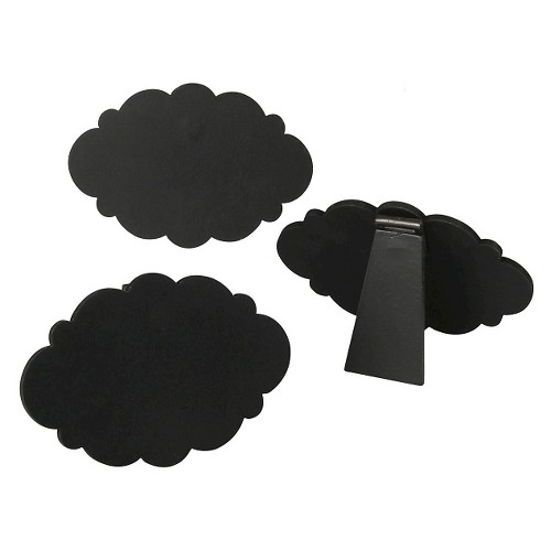 5ct Chalkboard Easel Mini Frameless Cloud Black Party Decoration