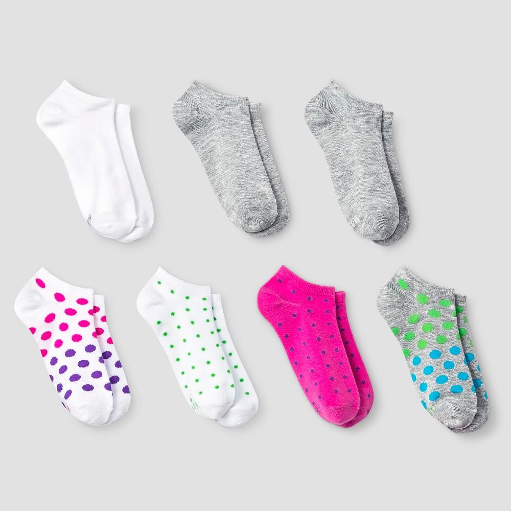 Hanes Premium Girls Athletic Socks - Hot Pink L