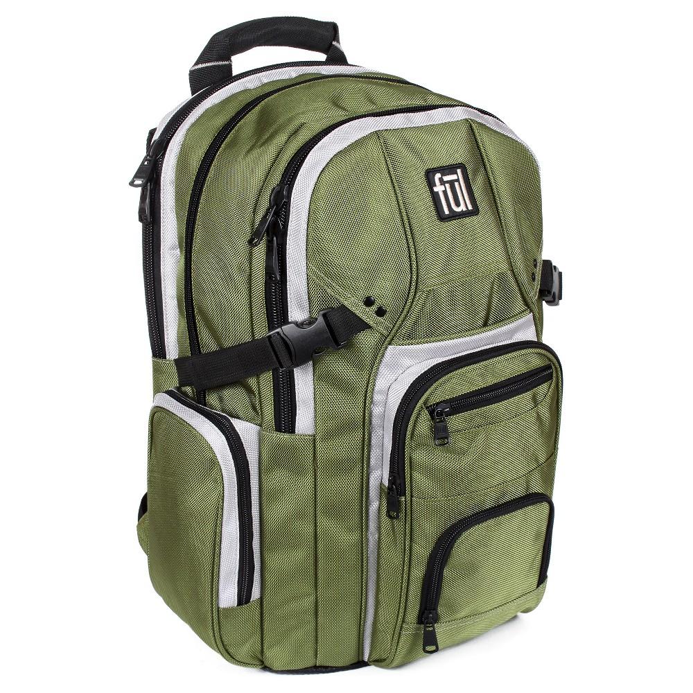 Ful 17 Tenman Backpack - Olive, Olive Tree