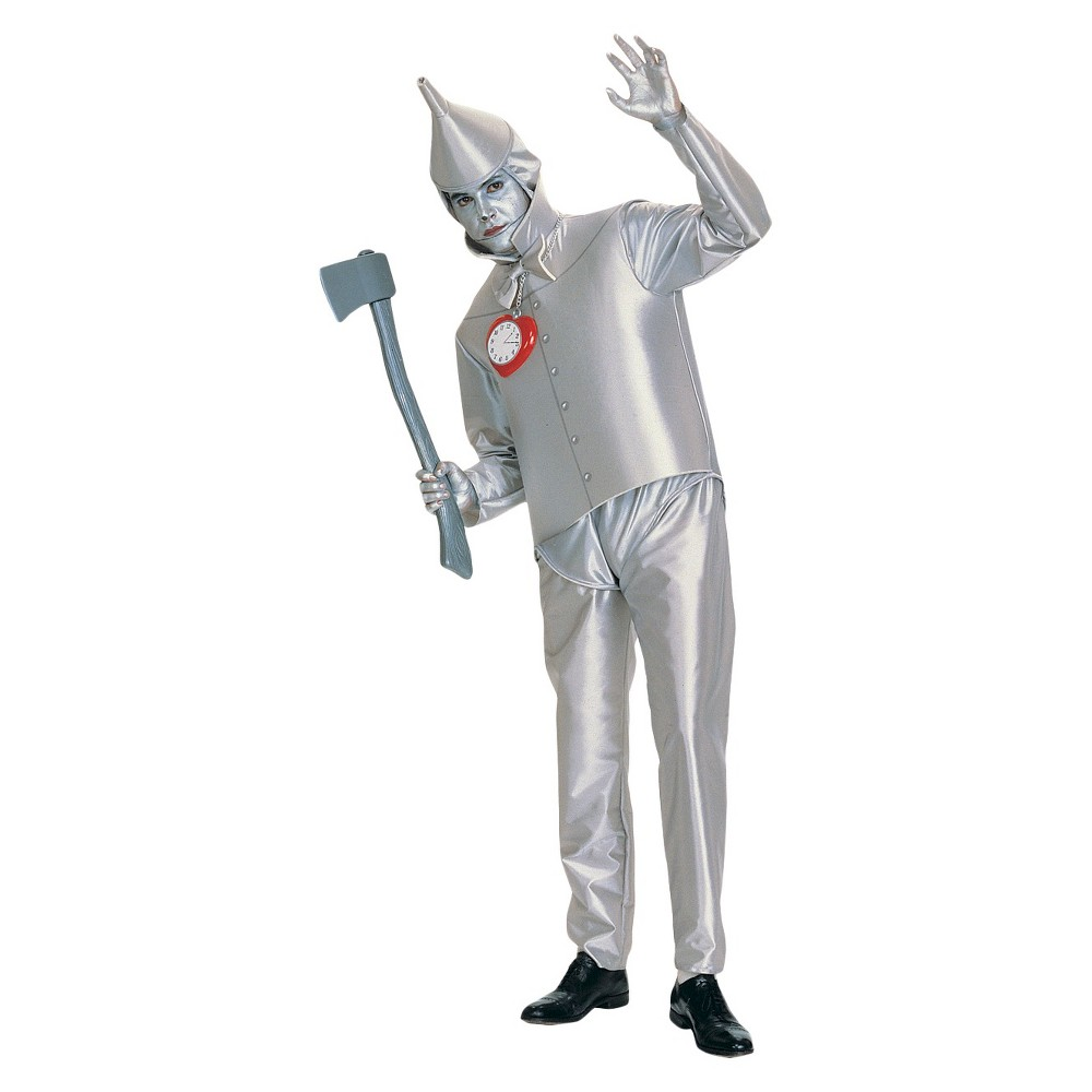 Wiz Of Oz Tin Mens Costume One Size Fits Most, Silver