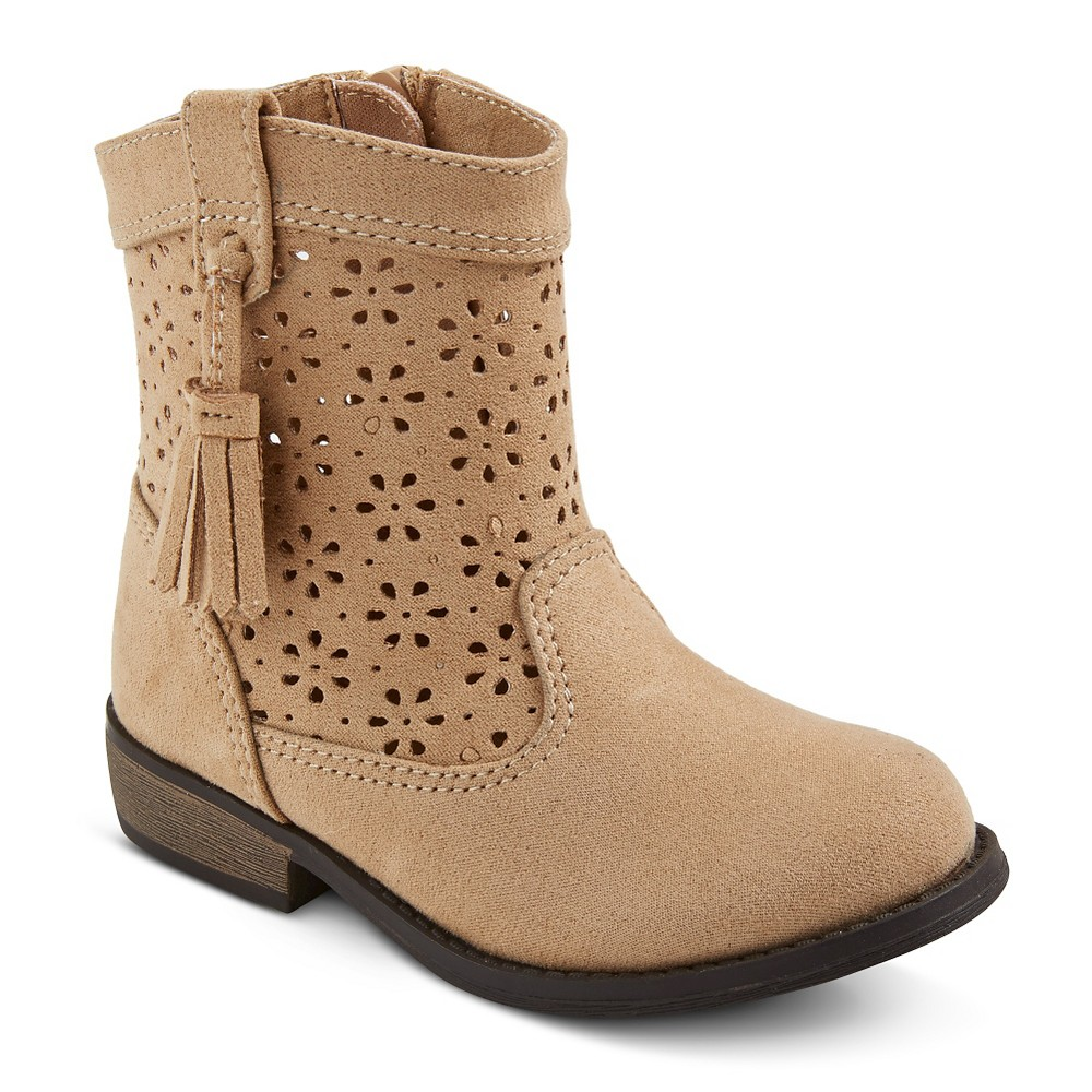 Toddler Girls' Genuine Kids Cece Perforated Shaft Fashion Boots – Tan 9, Toddler Girl's, Beige