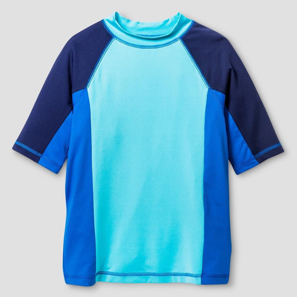 Boys Short Sleeve Rash Guards - Cat & Jack River Blue XL