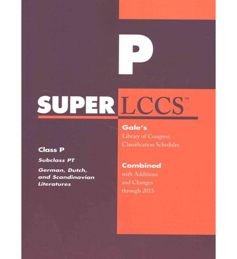 Superlccs : Class P - Subclass Pt - German, Dutch, and Scandinavian Literatures - Combined With - image 1 of 1