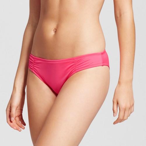 Women's Cheeky Bikini Bottom - Fruit Punch Pink - L - Mossimo