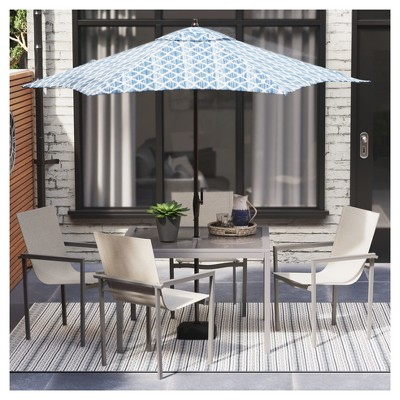 Sarson 4pk White Sling Patio Dining Chair with Gray Frame