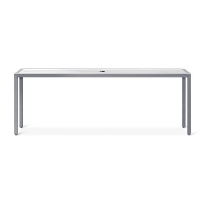 Sarson 80  Rectangle Glass Patio Dining Table - Threshold™