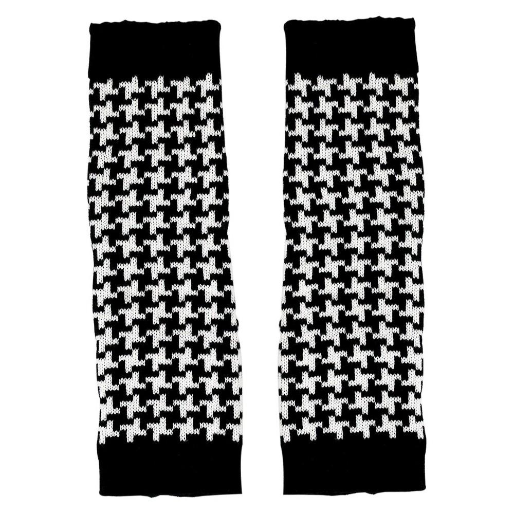Women's Sylvia Alexander Leg Warmers - Black/White One Size
