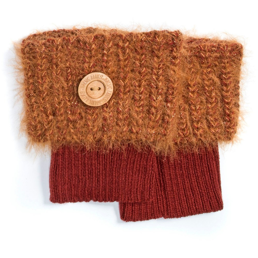 Muk Luks Womens 1-Pair Fuzzy Boot Toppers - Burnt Sienna One Size, Brown
