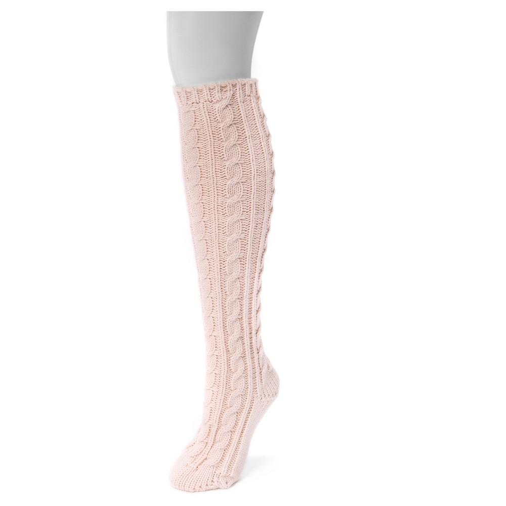 Muk Luks Womens 1-Pair Solid Knee High Socks - Light Rose One Size, Pink