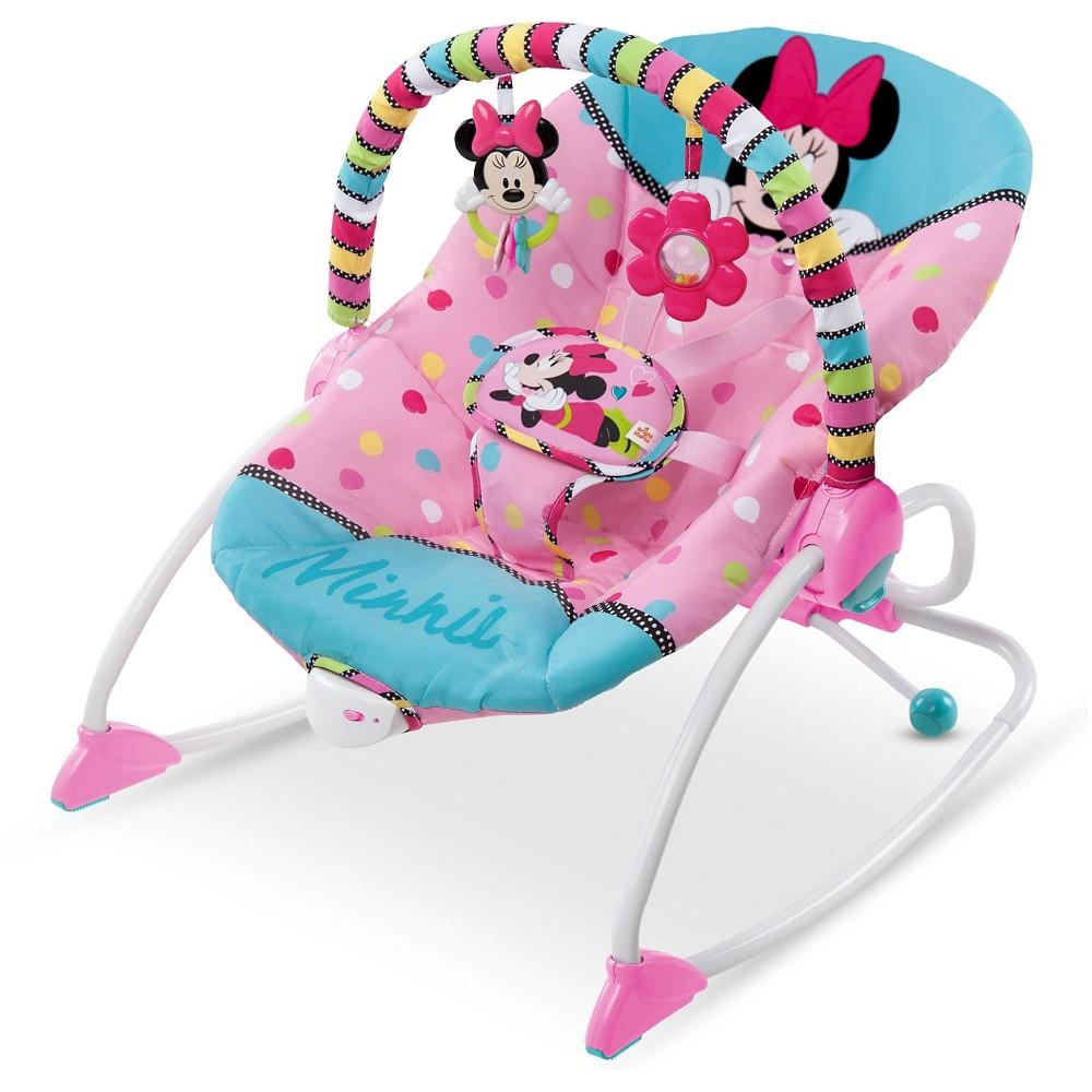 Disney Baby Minnie Mouse PeekABoo Rocker, Pink