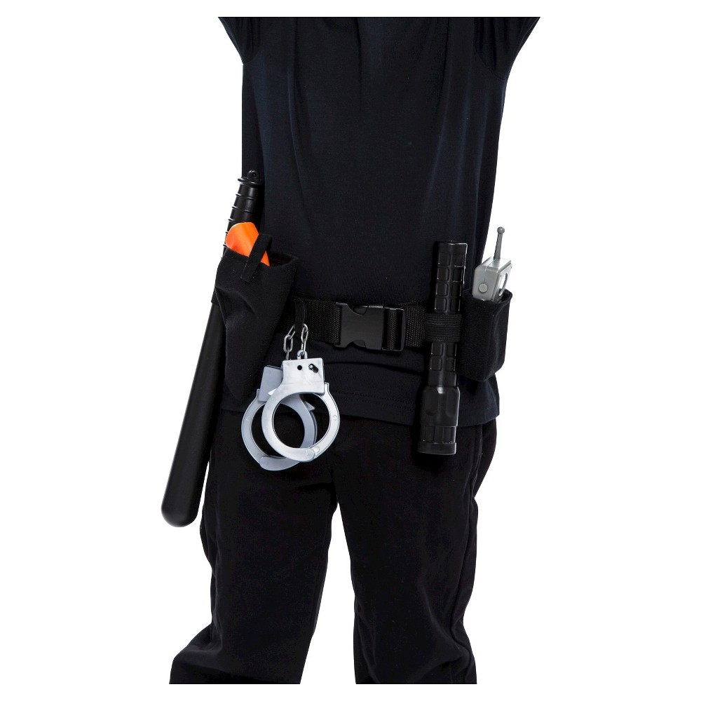 Halloween Adult Police Officer Belt Black, Adult Unisex