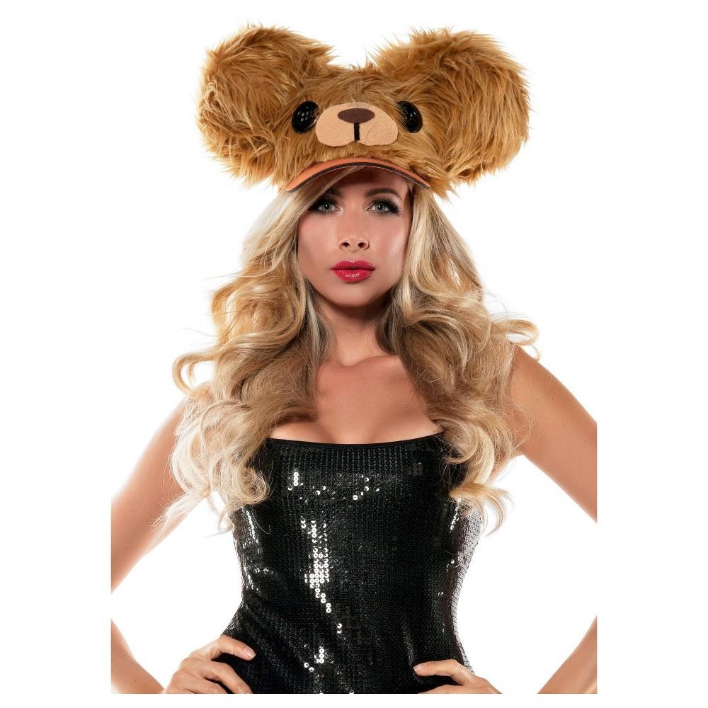 Halloween Bear Fuzzy Hat Brown, Womens