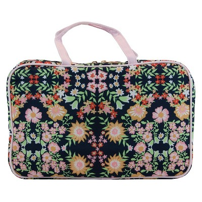 Contents Floral Reflection Weekender Cosmetic Bag