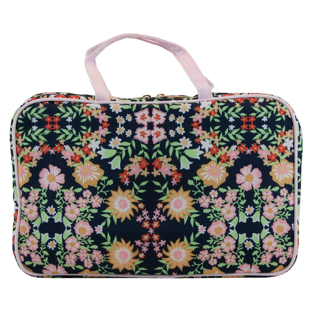 Contents Floral Reflection Weekender Cosmetic Bag, Multi-Colored
