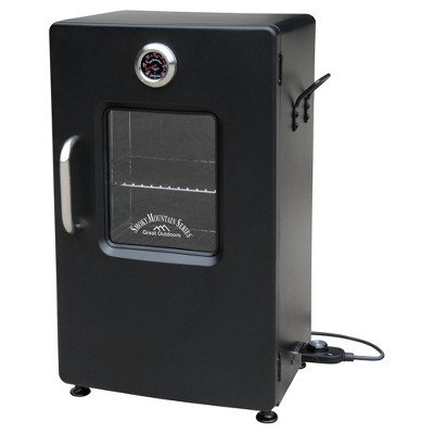 Smoky Mountain 26  Electric Smoker With Viewing Window Steel - Black - Landmann