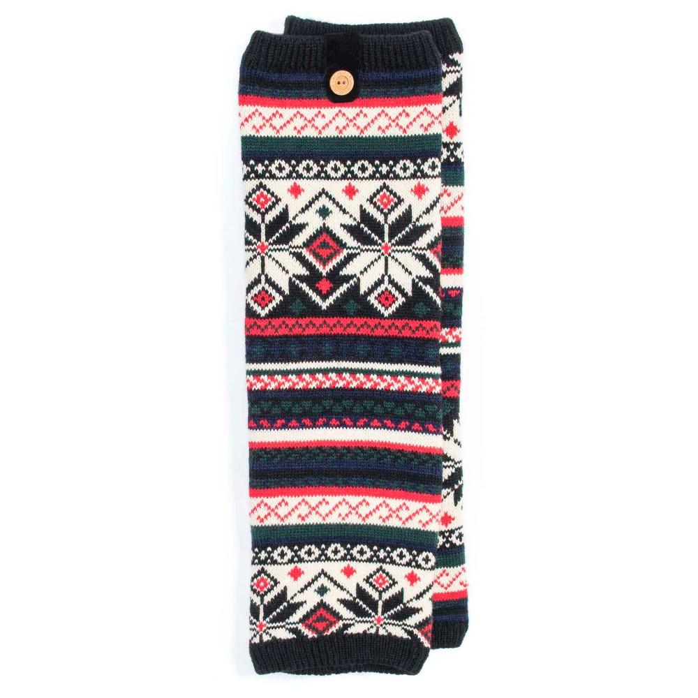 Muk Luks Womens 1-Pair Patterned Legwarmers - Black One Size
