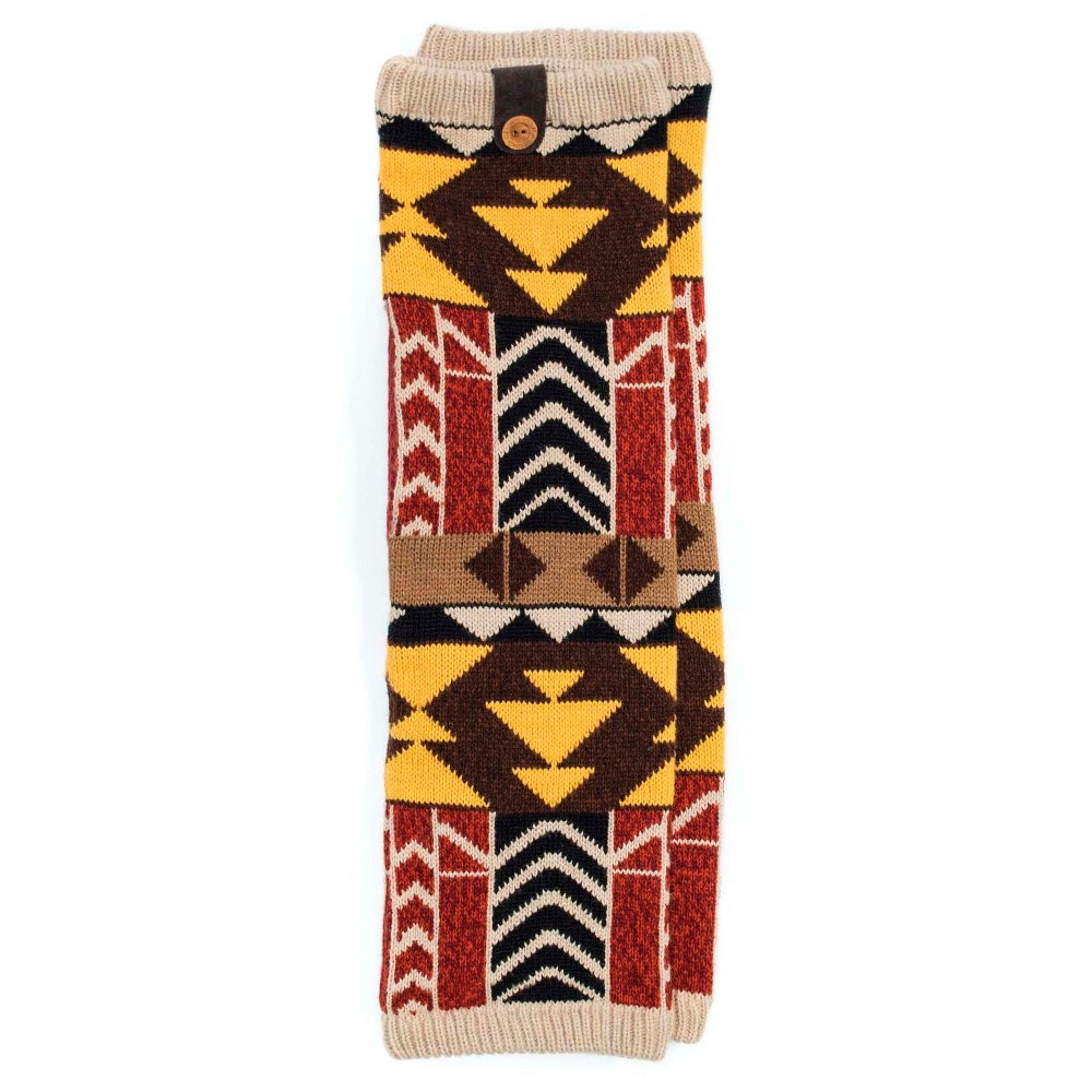 Muk Luks Womens 1-Pair Patterned Legwarmers - Brown One Size