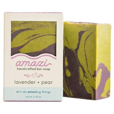 Amazi Lavender Pear Bar Soap - 4oz