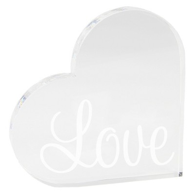 Acrylic Heart Love Clear Party Decoration