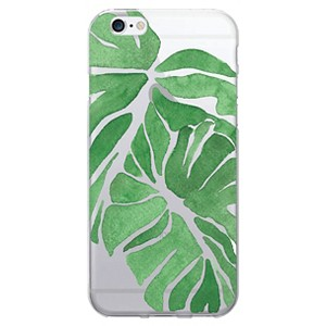 iPhone 6/6S Clear Case - Palm Leaves - Green