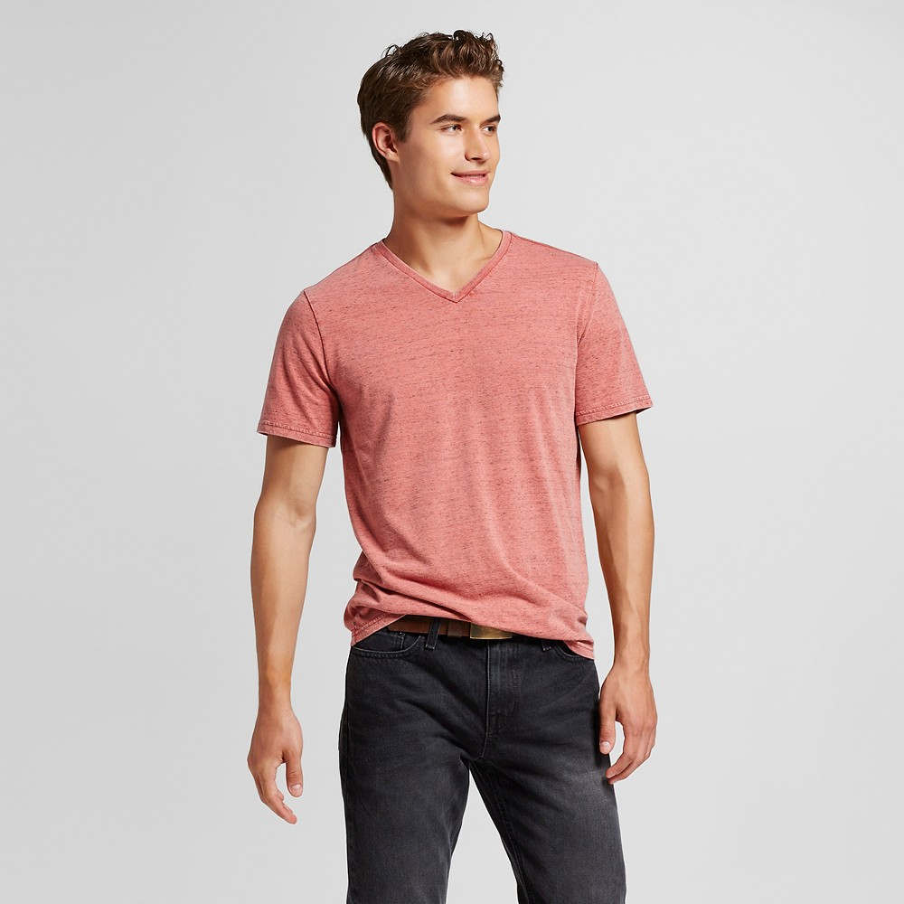Men's V-Neck T-Shirt Red Xxl – Mossimo Supply Co., Divine Red