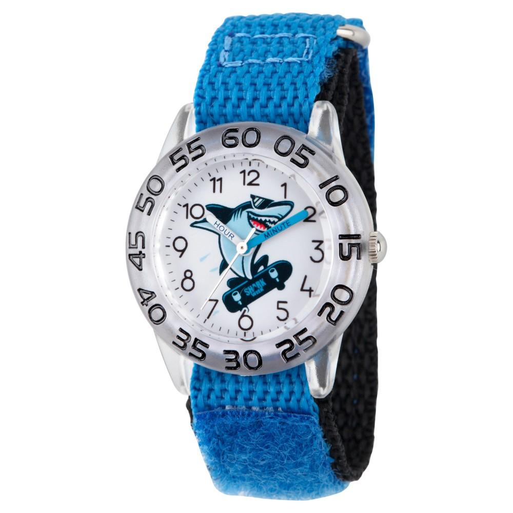 Boys' Discovery Channel Shark Week Clear Plastic Time Teacher Watch - Blue