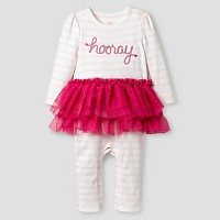 Baby Girls' Striped Long-Sleeve Tutu Romper Cat & Jack - Pink. opens in a new tab.