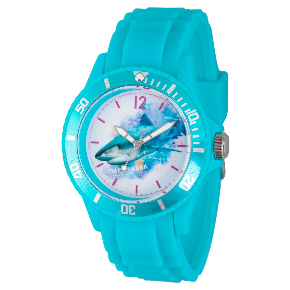 Womens Discovery Channel Shark Week Blue Plastic Watch - Blue