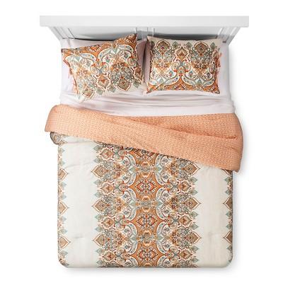 Anya Comforter and Sham Set (Full/Queen)Orange 3pc - Mudhut™