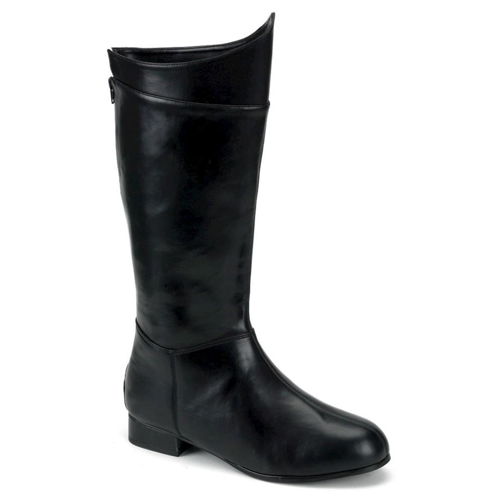 Halloween Men's Super Hero Boots Black Medium