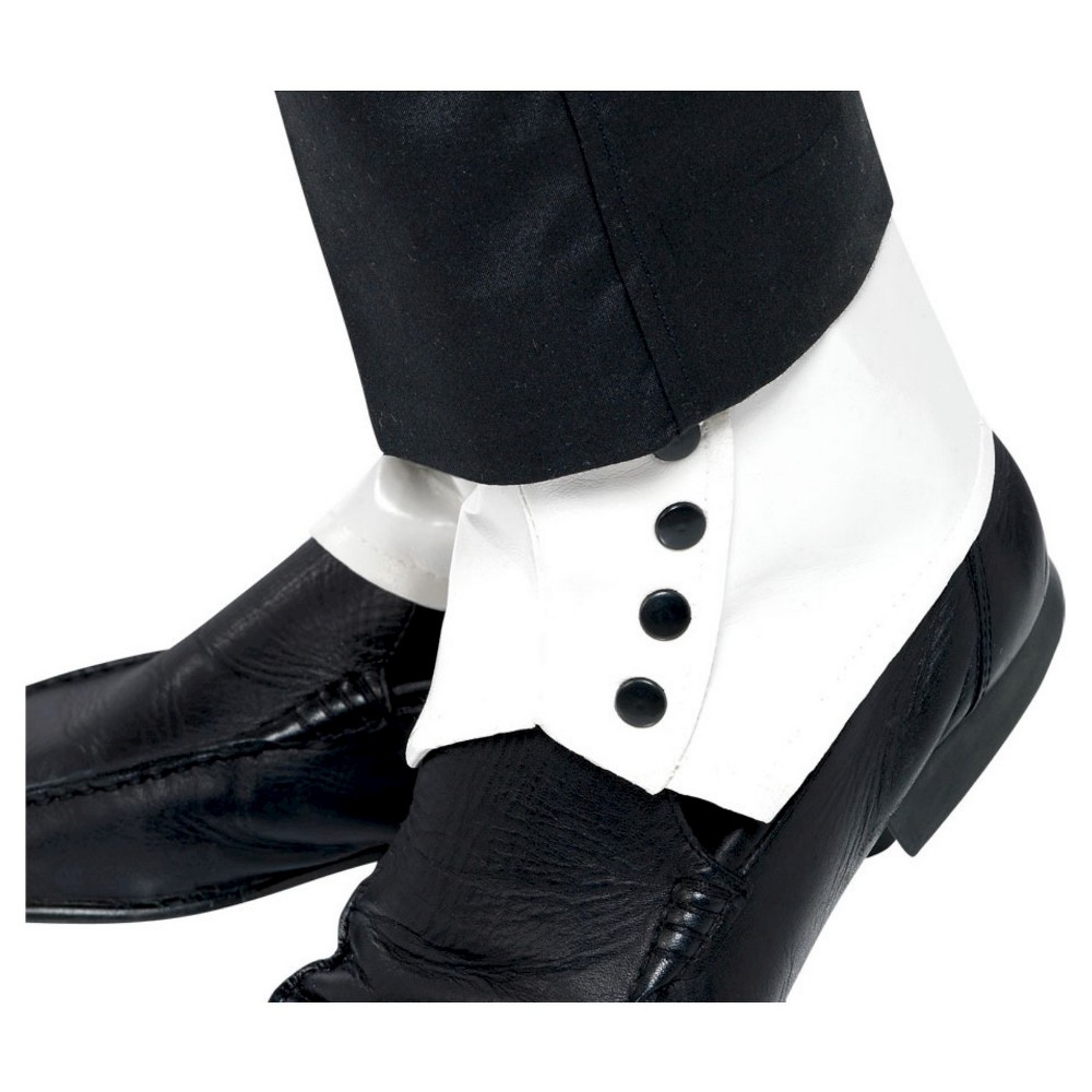 Halloween Mens Spats White One Size