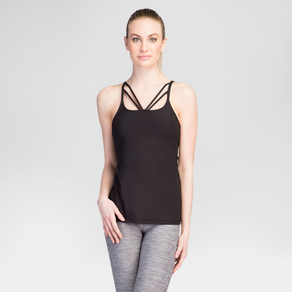 Women's Strappy Front Tank Top Black XL – Velvet Rose