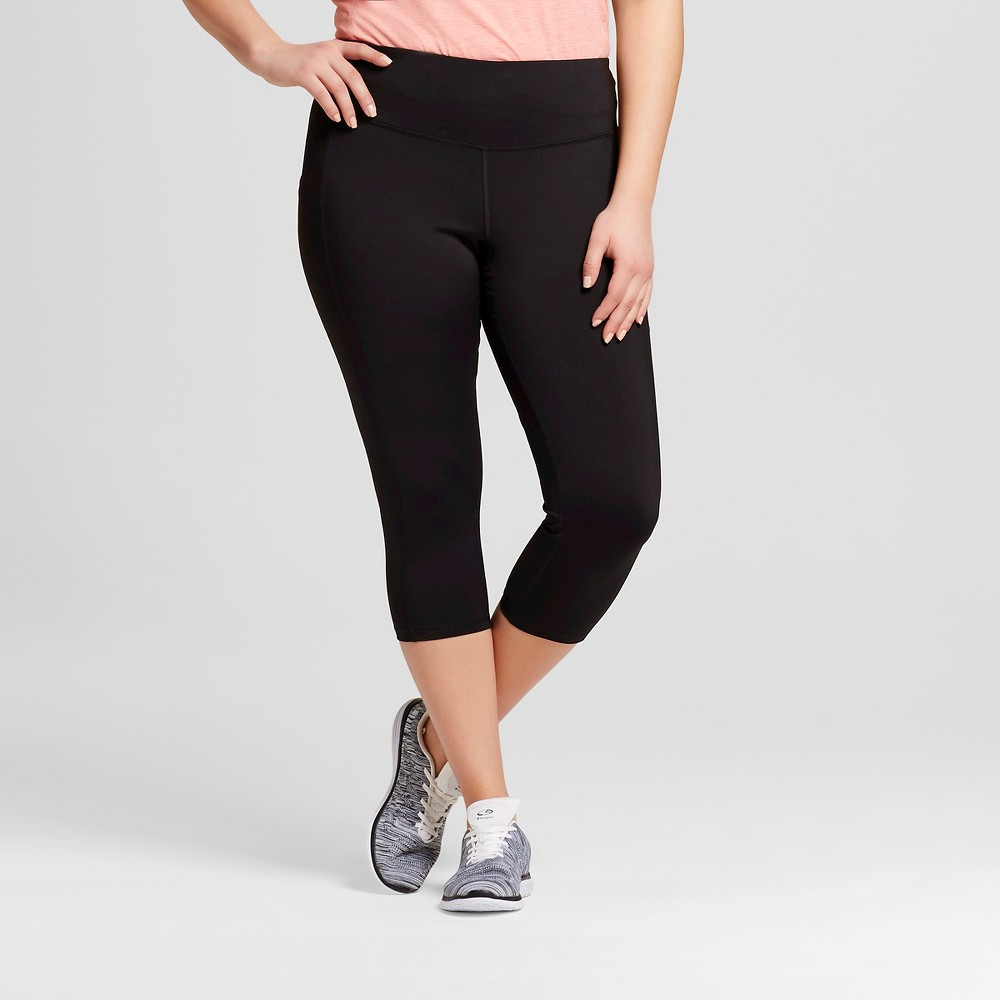 Womens Plus-Size Embrace Capri Leggings - C9 Champion Black 4X