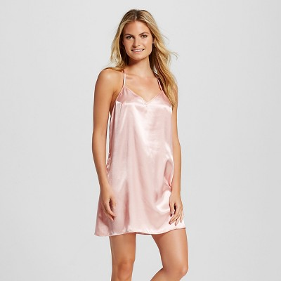 Women's Pajama Satin Chemise - Light Pink L - Gilligan & O'Malley™