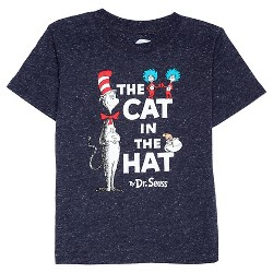 Baby Boys' Dr. Seuss Cat in the Hat T-Shirt - Navy Speckle
