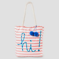 Girls' Oh Hello Printed Tote Cat & Jack - Multi-Colored OSFM. opens in a new tab.