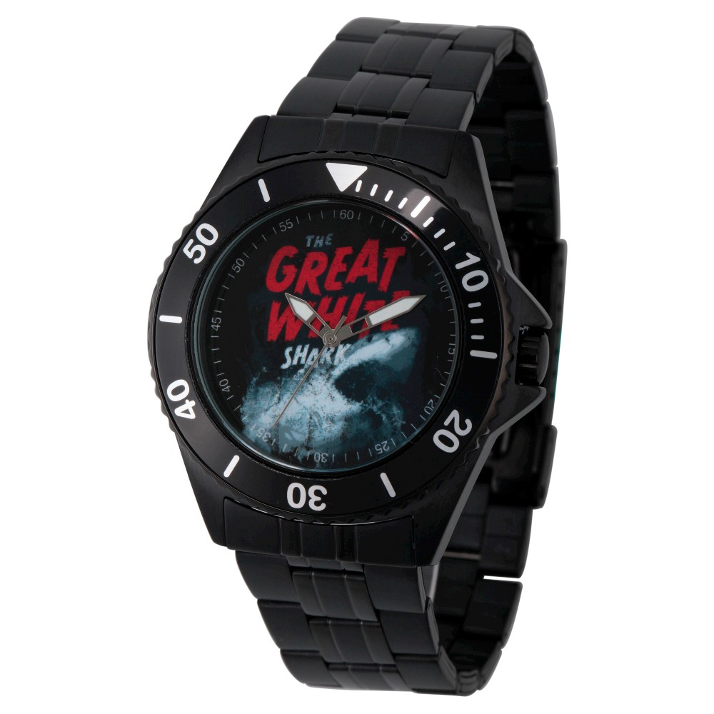 Mens Discovery Channel Shark Week Honor Black Stainless Steel Watch - Black