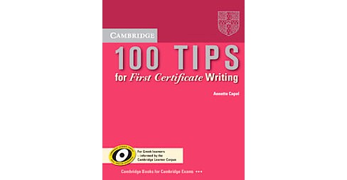 100 Tips for First Certificate Writing Booklet (Paperback) (Annette Capel) - image 1 of 1