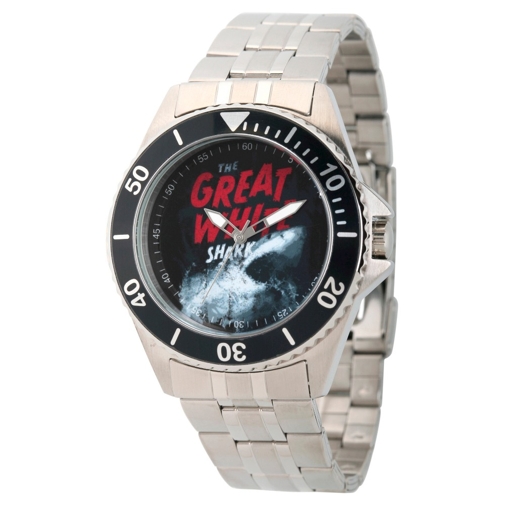 Mens Discovery Channel Shark Week Honor Stainless Steel Watch - Silver
