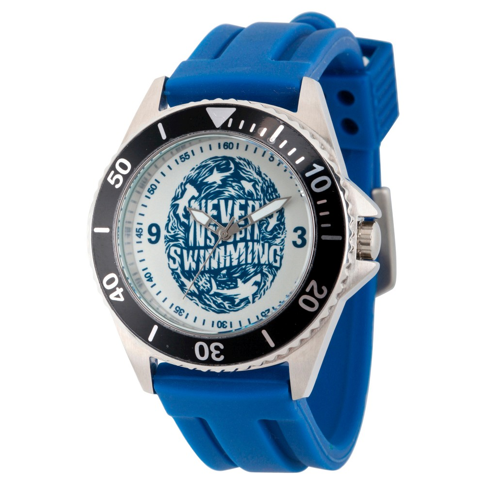 Mens Discovery Channel Shark Week Honor Two Tone Stainless Steel Watch - Blue