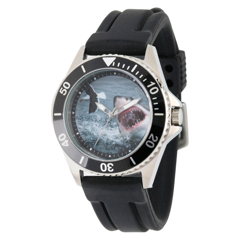 Mens Discovery Channel Shark Week Honor Stainless Steel Watch - Black