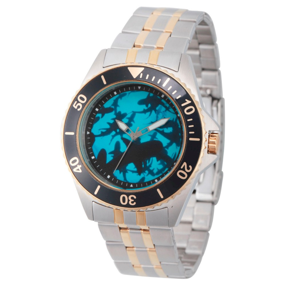 Mens Discovery Channel Shark Week Honor Two Tone Stainless Steel Watch - Two Tone, Multi-Colored