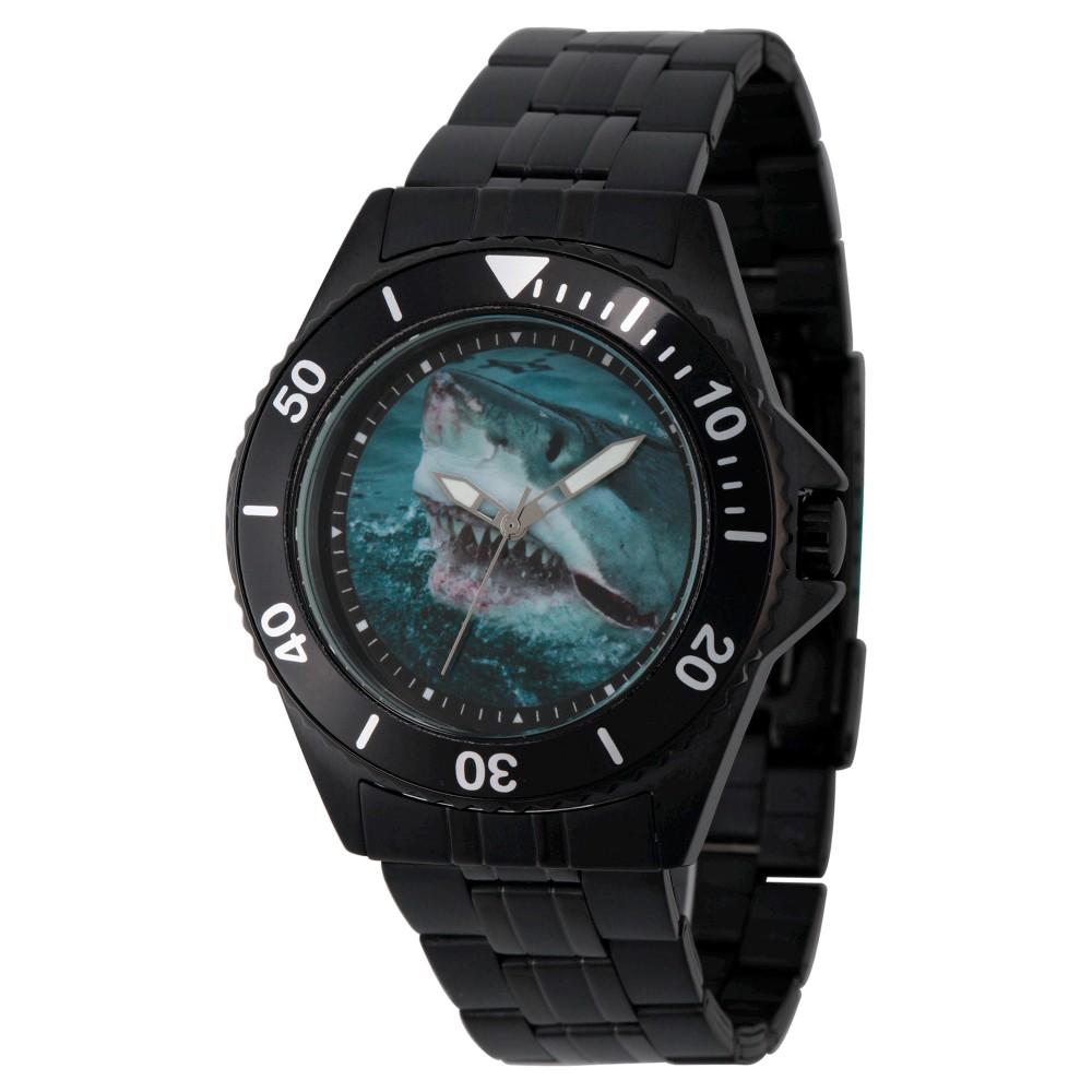 Mens Discovery Channel Shark Week Honor Black Stainless Steel Watch - Black