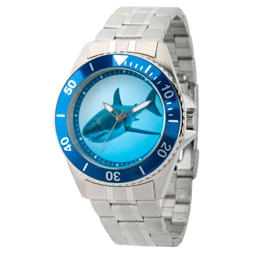 Men's Discovery Channel Shark Week Honor Stainless Steel Watch - Silver