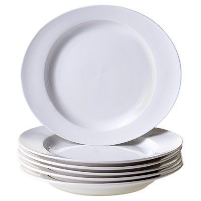 Certified International Ellipse Set of 6 Dinner Plate 11.5  x 10
